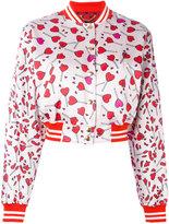 Diesel heart print bomber jacket - women - Nylon/Acrylic/Cotton - XS