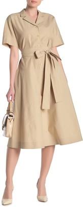 Lafayette 148 New York Varuni Notch Collar Waist Tie Dress