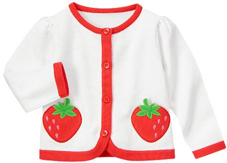 Gymboree Strawberry Sweater Cardigan