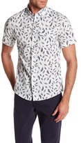 Heritage Feather Print Slim Fit Sport Shirt
