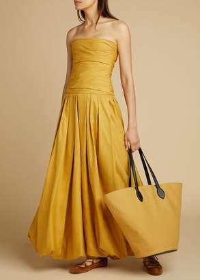KHAITE The Ingrid Dress in Dijon