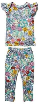 OiOi Oi Oi Ruffled Cap Sleeve Pyjama Set - Secret Garden