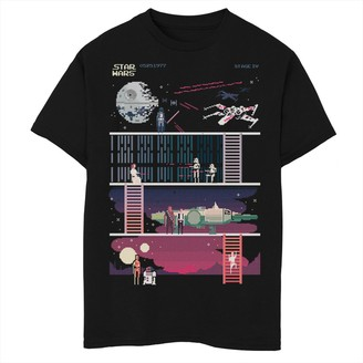 Star Wars Boys 8-20 A New Hope 8-Bit Game Graphic Tee