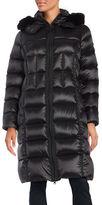 BCBGMAXAZRIA Fur Trimmed Puffer Jacket
