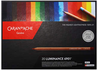 Caran d'Ache Luminance 6901, Dry Permanent Colored Pencils in Protective Box - Assortment of 20 Colors