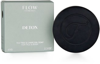 Flow Cosmetics Detox Tea Tree & Charcoal Soap For Face & Body