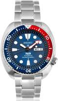 Seiko in association with PADI blue dial stainless steel mens diving watch