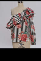 Flying Tomato Striped Floral Top