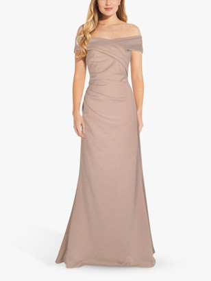Adrianna Papell Metallic Knit Maxi Gown, Champagne