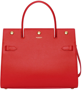Burberry Small Bar Leather Tote Bag