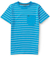 Hurley Big Boys 8-20 Horizontal-Striped Short-Sleeve Pocket Tee