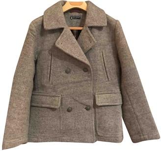 Petit Bateau Grey Wool Jacket for Women