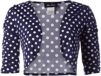 Star Vixen Women's Petite Rouch Sleeve Topper Jacket