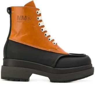 MM6 MAISON MARGIELA two-tone combat boots