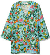 Matthew Williamson Mediterranean Medley Printed Silk-chiffon Blouse - Light blue