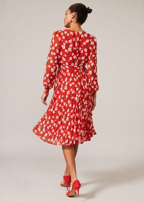 Phase Eight Lou-Poppy Floral Ditsy Pleated Dress