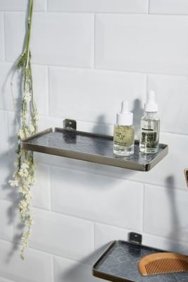 Urban Outfitters Glass & Silver Wall Shelf - Silver ALL at