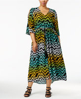 Melissa McCarthy Trendy Plus Size Cold-Shoulder Maxi Dress