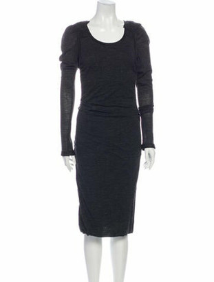 Dolce & Gabbana Wool Midi Length Dress Wool