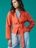 Diane von Furstenberg Suede Wrap Jacket