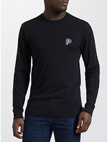 Penfield Plano Embroidered Patch Long Sleeve T-shirt, Black