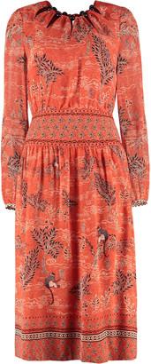 Saloni Lea Printed Long Dress