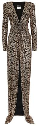 Jovani Leopard Print Metallic Gown