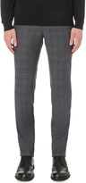 SLOWEAR Checked stretch-cotton trousers