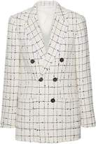 Rebecca Taylor Double-breasted Boucle-tweed Blazer