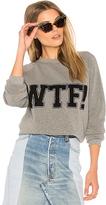 Rebecca Minkoff WTF Classic Crew Sweatshirt