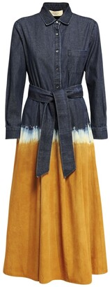 Max Mara Tie Dye Cotton Denim Shirt Dress