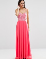AX Paris Lace Bodice Maxi Dress