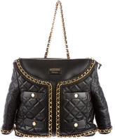 Moschino Quilted Suit Jacket Bag