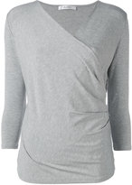 Max Mara wrap shirt - women - Spandex/Elastane/Viscose - M
