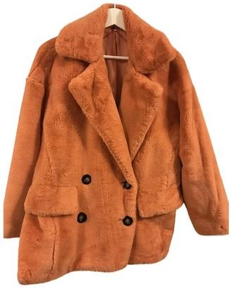 Free People \N Orange Faux fur Coats