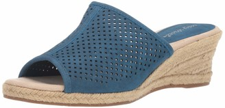 Easy Street Shoes Women's Mandy Espadrille Slide Sandal Wedge