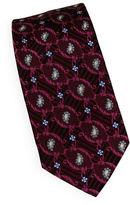 Linea In Geometric Embroidered Silk Tie