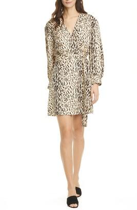 Joie Jaide Long Sleeve Wrap Minidress