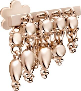 Maria Tash Rose Gold Tassel Bar Threaded Stud Earring (6mm)