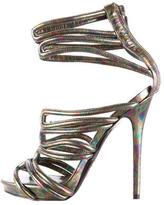 Alexander McQueen Oil Slick Leather Sandals