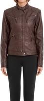 Max Studio Leatherette Moto Jacket