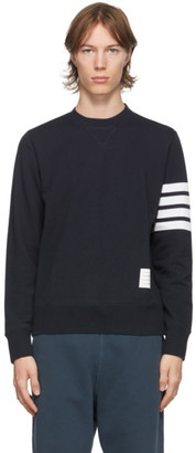 Thom Browne Navy 4-Bar Classic Sweatshirt