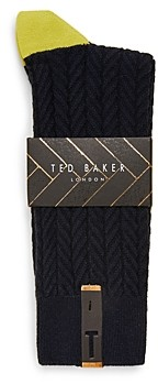 Ted Baker Mxs Hutten Semi Plain Socks