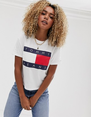 Tommy Jeans flag t-shirt in white