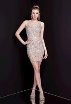 Terani Couture 1721H4516 Crystal Embellished Sheath Dress