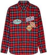 Dsquared2 Checked Appliqued Cotton Shirt