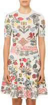 Alexander McQueen Knit Jacquard Mini Dress