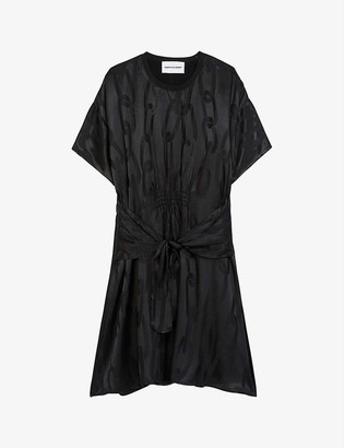 The Kooples Sport Chain link-jacquard crepe dress