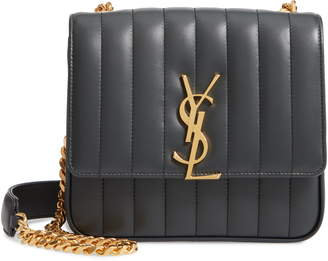 Saint Laurent Medium Vicky Leather Crossbody Bag