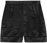 Givenchy Shorts With Cutout Detail In Black Silk-satin - FR40